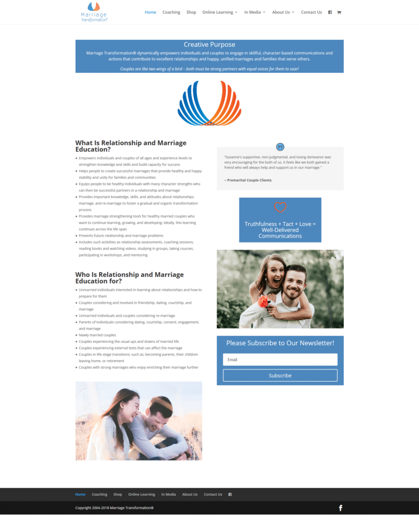 ActivPC and Marriage Transformation Website